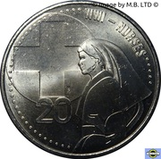 20 Cents - Elizabeth II (4th Portrait - Nurses) – reverse
