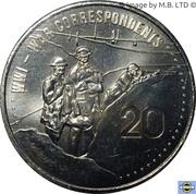 20 Cents - Elizabeth II (4th Portrait - War Correspondents) -  reverse