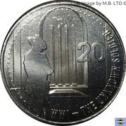 20 Cents - Elizabeth II (4th Portrait - The Unknown Soldier) -  reverse