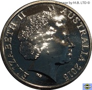 20 Cents - Elizabeth II (4th Portrait - Netball World Cup) -  obverse