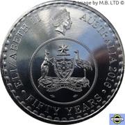 20 Cents - Elizabeth II (4th Portrait - 50th Anniversary of Decimal Currency) -  obverse