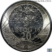 20 Cents - Elizabeth II (4th Portrait - 400th Anniversary of Dirk Hartog's Landfall) -  reverse