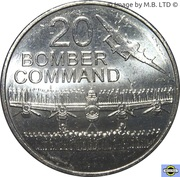 20 Cents - Elizabeth II (4th Portrait - Bomber Command) – reverse
