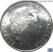20 Cents - Elizabeth II (4th Portrait - Thai-Burma Railway) – obverse