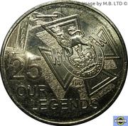 25 Cents - Elizabeth II (4th Portrait - Our Legends) -  reverse