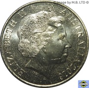 25 Cents - Elizabeth II (4th Portrait - Long Tan) -  obverse