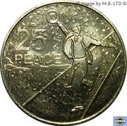 25 Cents - Elizabeth II (4th Portrait - Peace) – reverse