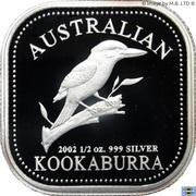 50 Cents - Elizabeth II (4th Portrait - Australian Square Kookaburra) -  reverse