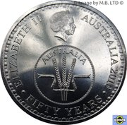 10 Cents - Elizabeth II (4th Portrait - 50th Anniversary of Decimal Currency) – obverse