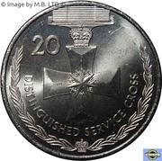 20 Cents - Elizabeth II (4th Portrait - Distinguished Service Cross) -  reverse