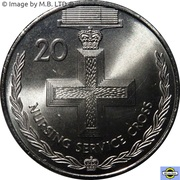 20 Cents - Elizabeth II (4th Portrait - Nursing Service Cross) – reverse