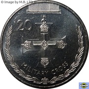 20 Cents - Elizabeth II (4th Portrait - Military Cross) -  reverse