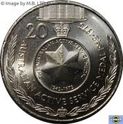 20 Cents - Elizabeth II (4th Portrait - Australian Active Service Medal 1945 - 1975) -  reverse