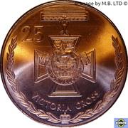 25 Cents - Elizabeth II (4th Portrait - Victoria Cross) -  reverse