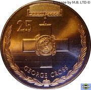 25 Cents - Elizabeth II (4th Portrait - George Cross) -  reverse