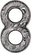 2 Dollars - Elizabeth II (6th Portrait - Dragon & Phoenix) -  reverse