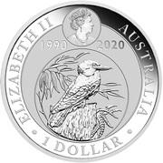 1 Dollar - Elizabeth II (6th Portrait - Kookaburra: 30th Anniversary; coloured) -  obverse