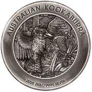 60 Dollars - Elizabeth II (6th Portrait - Kookaburra - Silver Antiqued) -  reverse