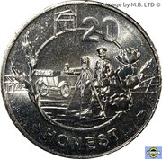20 Cents - Elizabeth II (4th Portrait - Anzac Spirit - Honest) – reverse