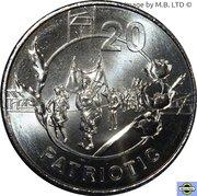 20 Cents - Elizabeth II (4th Portrait - Anzac Spirit - Patriotic) -  reverse
