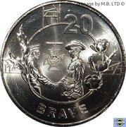 20 Cents - Elizabeth II (4th Portrait - Anzac Spirit - Brave) – reverse
