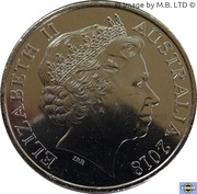 20 Cents - Elizabeth II (4th Portrait - Anzac Spirit - Curious) -  obverse