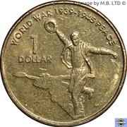 1 Dollar - Elizabeth II (4th Portrait - Peace - End World War II) -  reverse