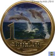 1 Dollar - Elizabeth II (4th Portrait - Bottlenose Dolphin) -  reverse