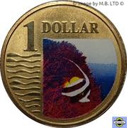 1 Dollar - Elizabeth II (4th Portrait - Longfin Bannerfish) -  reverse