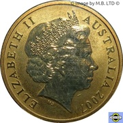 1 Dollar - Elizabeth II (4th Portrait - Biscuit Star) -  obverse