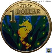 1 Dollar - Elizabeth II (4th Portrait - Bigbelly Seahorse) -  reverse