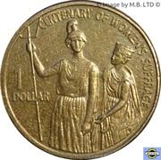 1 Dollar - Elizabeth II (4th Portrait - Women's Suffrage) -  reverse