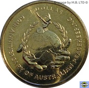 1 Dollar - Elizabeth II (4th Portrait - Australian Peacekeeping) -  reverse