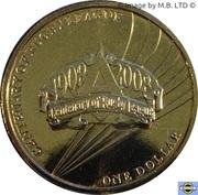 1 Dollar - Elizabeth II (4th Portrait - Rugby League 100 Yrs) – reverse