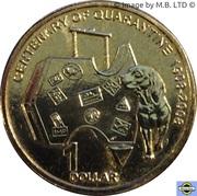 1 Dollar - Elizabeth II (4th Portrait - Centennial of Quarantine) – reverse