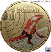 1 Dollar - Elizabeth II (4th portrait - Frilled-Neck Lizard) -  reverse