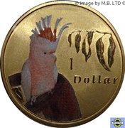 1 Dollar - Elizabeth II (4th Portrait - Major Mitchell Cockatoo) -  reverse