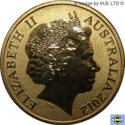 1 Dollar - Elizabeth II (4th Portrait - Corroboree Frog) -  obverse