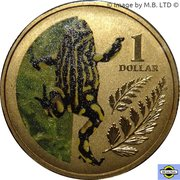 1 Dollar - Elizabeth II (4th Portrait - Corroboree Frog) -  reverse