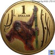 1 Dollar - Elizabeth II (4th Portrait - Orangutan) -  reverse
