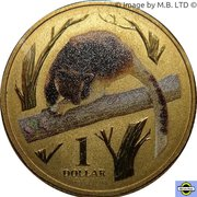 1 Dollar - Elizabeth II (4th Portrait - Tree Kangaroo) -  reverse