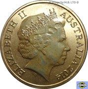 1 Dollar - Elizabeth II (4th Portrait - Bright Bug Series - Ulysses Butterfly) -  obverse