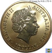 1 Dollar - Elizabeth II (4th Portrait - Alphabet Collection - Letter A) -  obverse