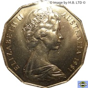 50 Cents - Elizabeth II (2nd Portrait - Royal Wedding) -  obverse