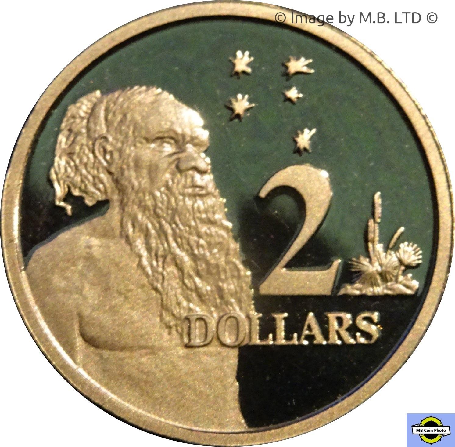 Australia 2000 $2 Aborigine /& Southern Cross Proof!