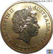 1 Dollar - Elizabeth II (4th Portrait - Alphabet Collection - Letter V) -  obverse