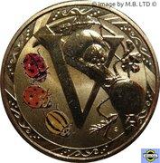1 Dollar - Elizabeth II (4th Portrait - Alphabet Collection - Letter V) -  reverse