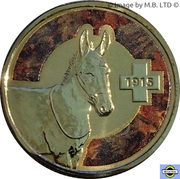 1 Dollar - Elizabeth II (4th Portrait - Unlikely Heroes - Murphy the Donkey) -  reverse