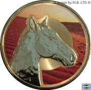 1 Dollar - Elizabeth II (4th Portrait - Unlikely Heroes - Sandy the War Horse) -  reverse
