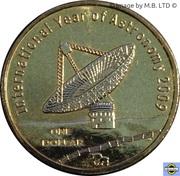 1 Dollar - Elizabeth II (4th Portrait - International Year of Astronomy) – reverse